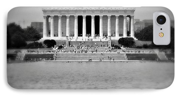 Freedom In Focus The Lincoln Monument  IPhone Case by Reid Callaway