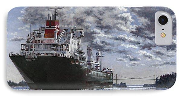 Freighter Inviken IPhone Case by Richard De Wolfe