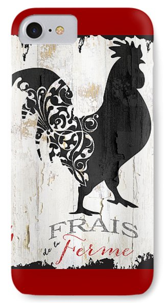 French Farm Sign Rooster IPhone Case by Mindy Sommers