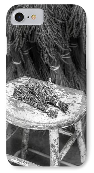 French Lavender Bundles Bw IPhone Case by Susan Candelario