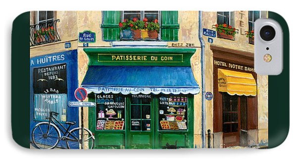 French Pastry Shop IPhone 7 Case by Marilyn Dunlap