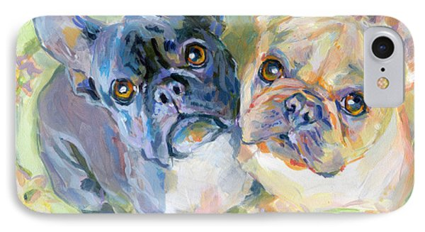 Frenchies IPhone Case by Kimberly Santini