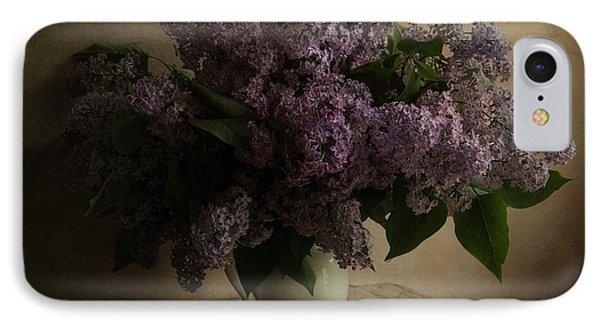 Fresh Lilac In White Pot IPhone Case by Jaroslaw Blaminsky