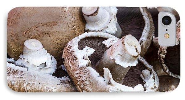 Fresh Portabella Mushrooms IPhone Case by Teri Virbickis