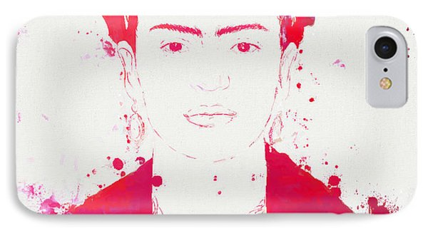 Frida Kahlo Paint Splatter IPhone Case by Dan Sproul