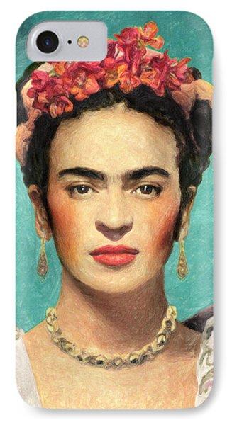 Frida Kahlo IPhone Case by Taylan Soyturk