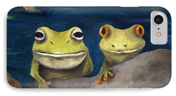 Frogland Detail Phone Case by Leah Saulnier The Painting Maniac