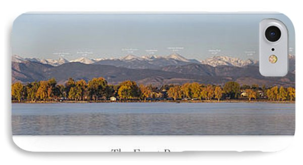 Front Range With Peak Labels Phone Case by Aaron Spong