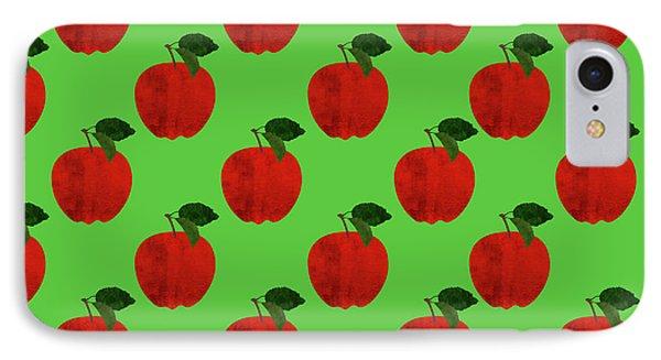 Fruit 02_apple_pattern IPhone 7 Case by Bobbi Freelance