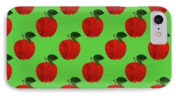 Fruit 02_apple_pattern IPhone Case by Bobbi Freelance