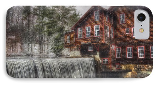 Frye's Measure Mill - Winter In New England IPhone Case by Joann Vitali