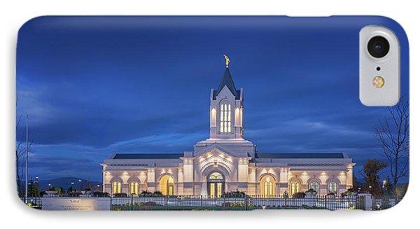Ft Collins Lds Temple IPhone Case by Kelly C Jones