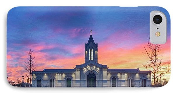 Ft. Collins Temple At Sunrise IPhone Case by Kelly C Jones