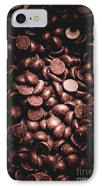 Full Frame Background Of Chocolate Chips IPhone Case by Jorgo Photography - Wall Art Gallery