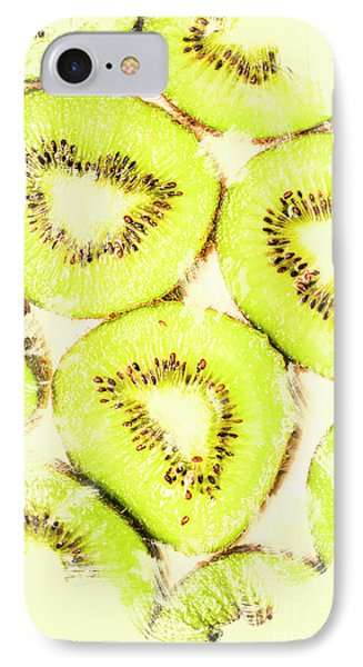 Full Frame Shot Of Fresh Kiwi Slices With Seeds IPhone 7 Case by Jorgo Photography - Wall Art Gallery