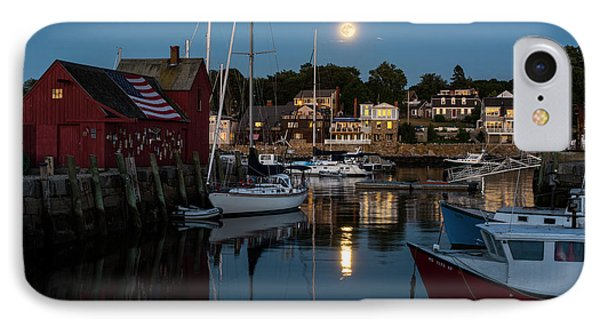Full Moon Rising Over Motif  Number 1 Rockport Ma Moonrise IPhone Case by Toby McGuire