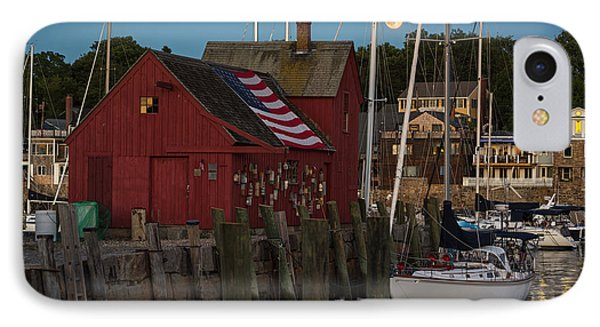 Full Moon Rising Over Motif  Number 1 Rockport Ma IPhone Case by Toby McGuire