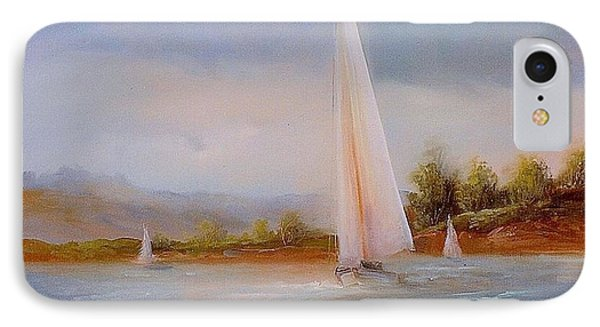 Full Sails IPhone Case by Sally SEago