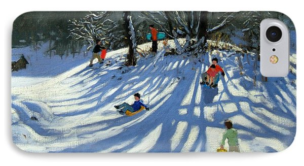 Fun In The Snow Phone Case by Andrew Macara
