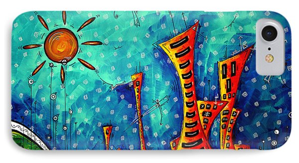 Funky Town Original Madart Painting Phone Case by Megan Duncanson