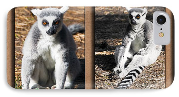 Funny Lemurs Phone Case by Svetlana Sewell
