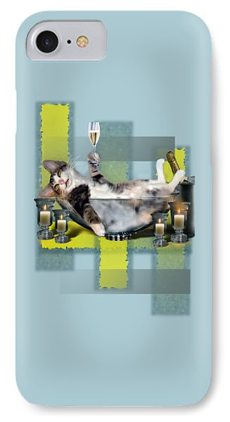 Funny Pet Print With A Tipsy Kitty  IPhone Case by Regina Femrite