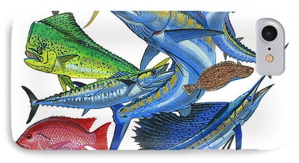Gamefish Collage IPhone Case by Carey Chen