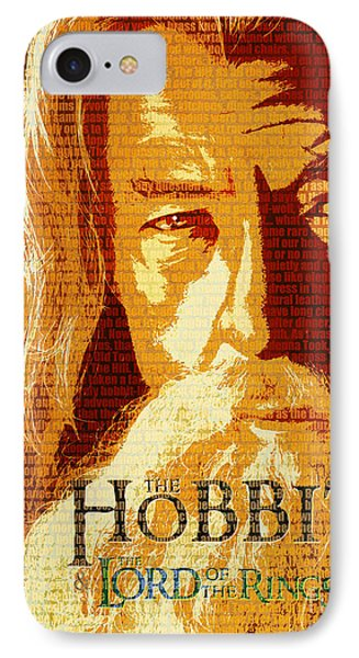 Gandalf The Lord Of The Rings Book Cover Movie Poster Art 1 IPhone Case by Nishanth Gopinathan