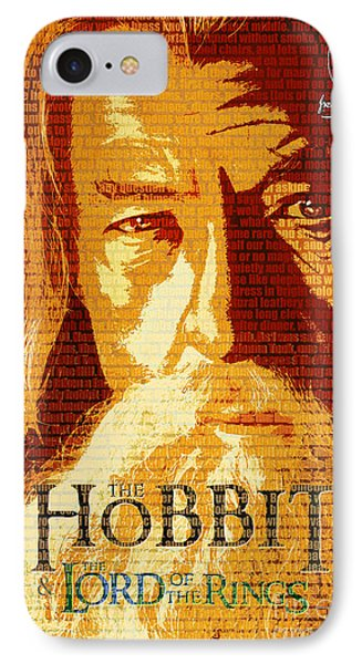 Gandalf The Lord Of The Rings Book Cover Movie Poster Art 2 IPhone Case by Nishanth Gopinathan