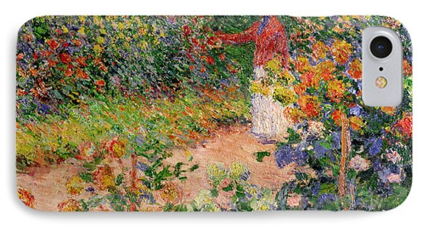 Garden At Giverny Phone Case by Claude Monet