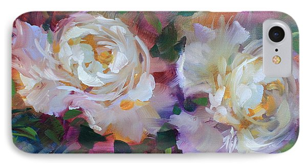 Garden Dancers Peonies IPhone Case by Nancy Medina