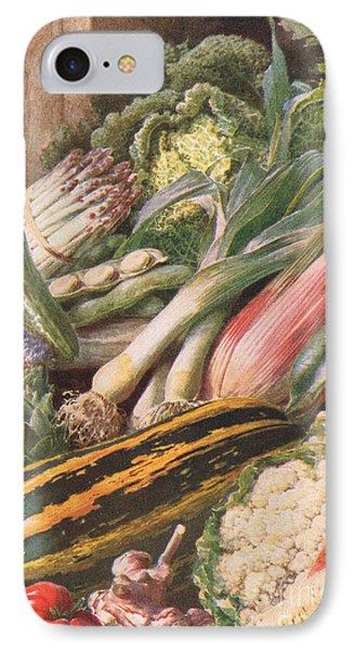 Garden Vegetables IPhone Case by Louis Fairfax Muckley