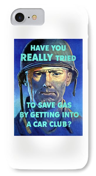 Gas Conservation Ww2 Poster IPhone Case by War Is Hell Store