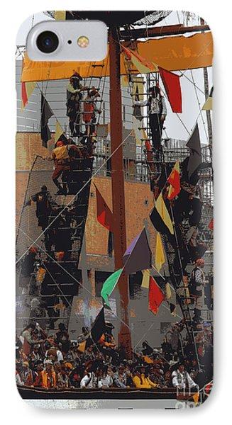 Gasparilla Ship Poster IPhone Case by Carol Groenen