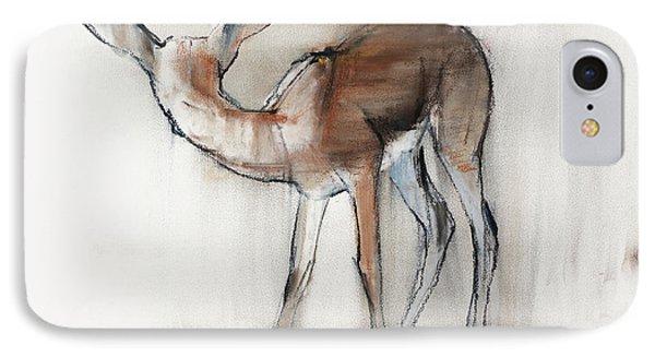 Gazelle Fawn  Arabian Gazelle IPhone Case by Mark Adlington