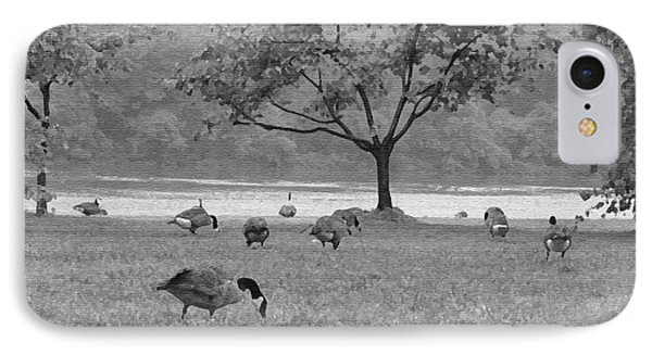 Geese On A Rainy Day IPhone Case by Bill Cannon