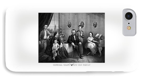General Grant And His Family IPhone Case by War Is Hell Store