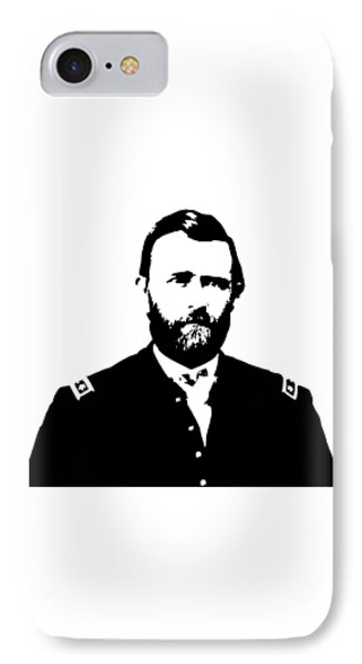General Grant Black And White  IPhone Case by War Is Hell Store