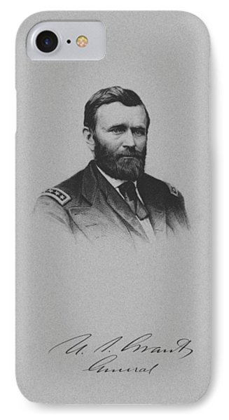General Ulysses Grant And His Signature IPhone Case by War Is Hell Store