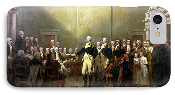 General Washington Resigning His Commission IPhone 7 Case by War Is Hell Store