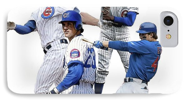 Generations Cubs I  The Chicago Cubs IPhone Case by Iconic Images Art Gallery David Pucciarelli