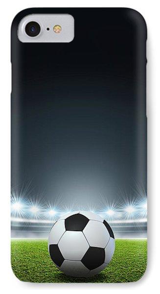 Generic Floodlit Stadium Soccer Ball IPhone Case by Allan Swart