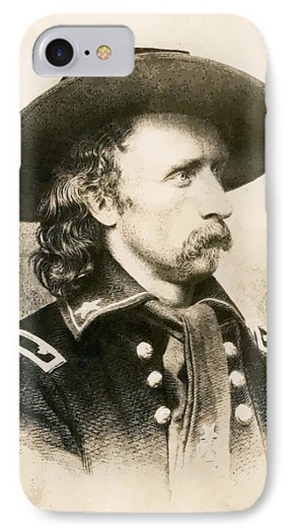 George Armstrong Custer  IPhone Case by War Is Hell Store