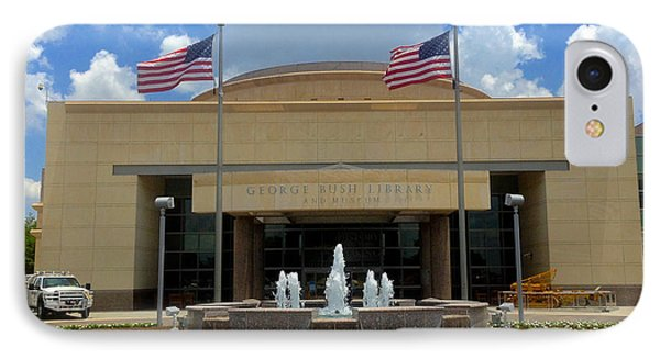 George Bush Library And Museum IPhone Case by Art Spectrum