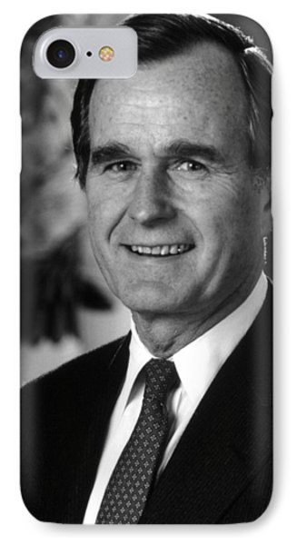 George Bush Sr IPhone 7 Case by War Is Hell Store