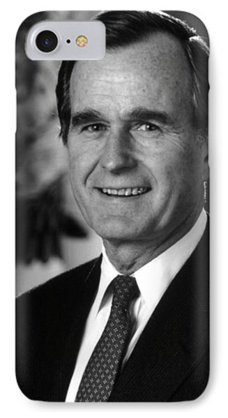 George Bush Sr IPhone Case by War Is Hell Store