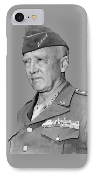 George S. Patton IPhone Case by War Is Hell Store