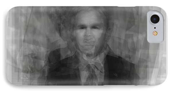 George W. Bush IPhone Case by Steve Socha
