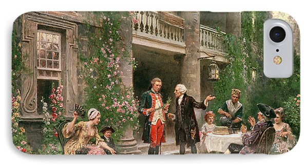 George Washington At Bartrams Garden IPhone Case by Jean Leon Jerome Ferris