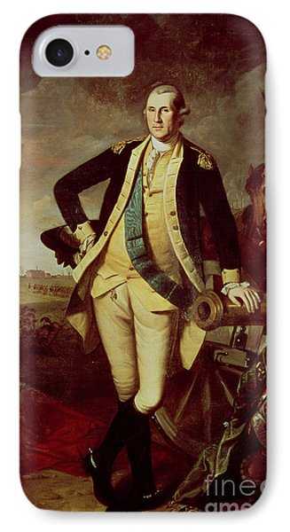George Washington At Princeton IPhone Case by Charles Willson Peale